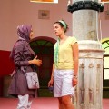 Two women in a mosque.