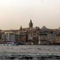 A view of Istanbul from the water.