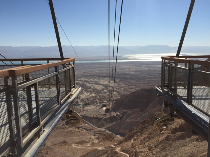 Cable Car Base on top of Masada, Israel
