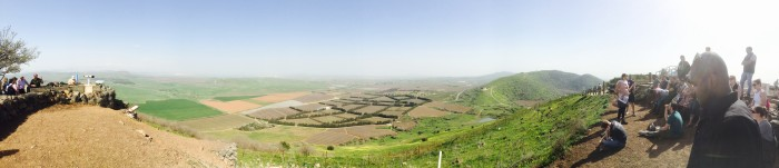 A panoramic view of the Golan Heights, where the group learned about the 6 Day War.