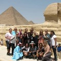 Group in front of the Sphinx.