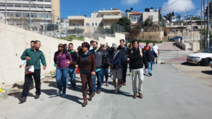 Resident of Sheika Jarrah giving a tour to of her home in West Jerusalem.