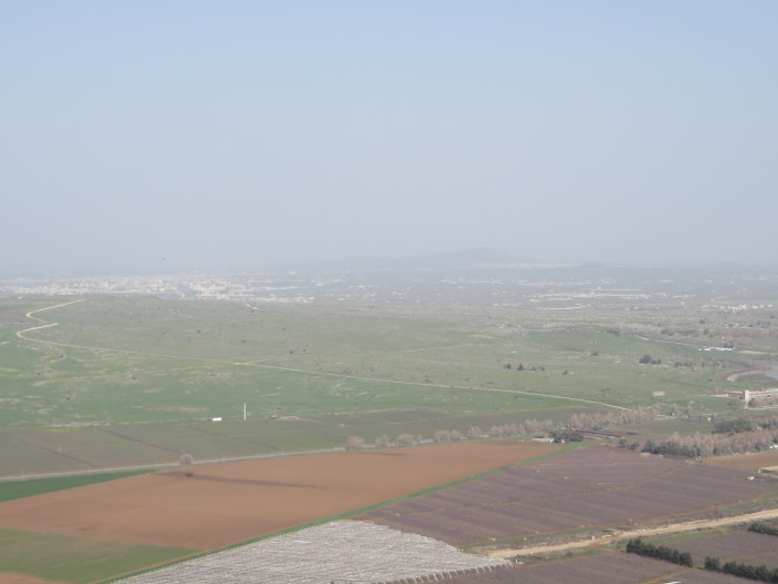 Overlooking Syria from Mt. Bental.