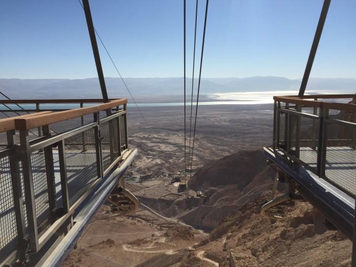 Cable Car Base on top of Masada, Israel