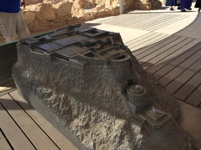 Model of Masada Fortress