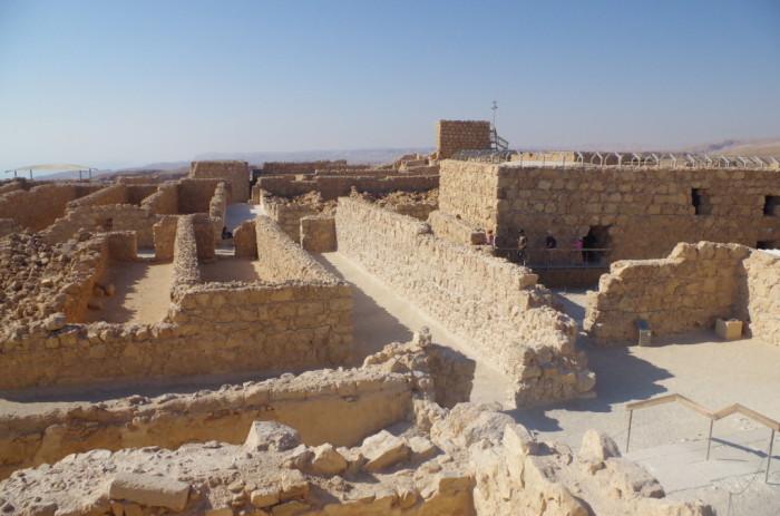 Storerooms in the Northern Palace at Masada