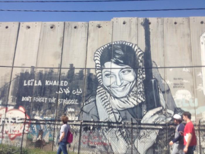 Mural of Leila Khaled