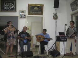 Wast Al Tarik (Middle of the Way) band; both Israeli and Palestinian musicians
